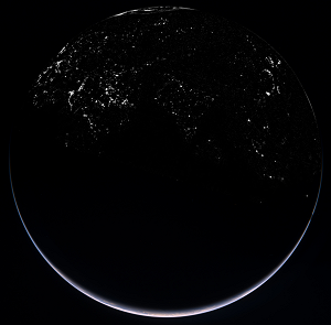 Earth Limb Night Side composite