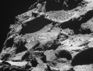 Mission Rosetta : les reliefs de Tchouri