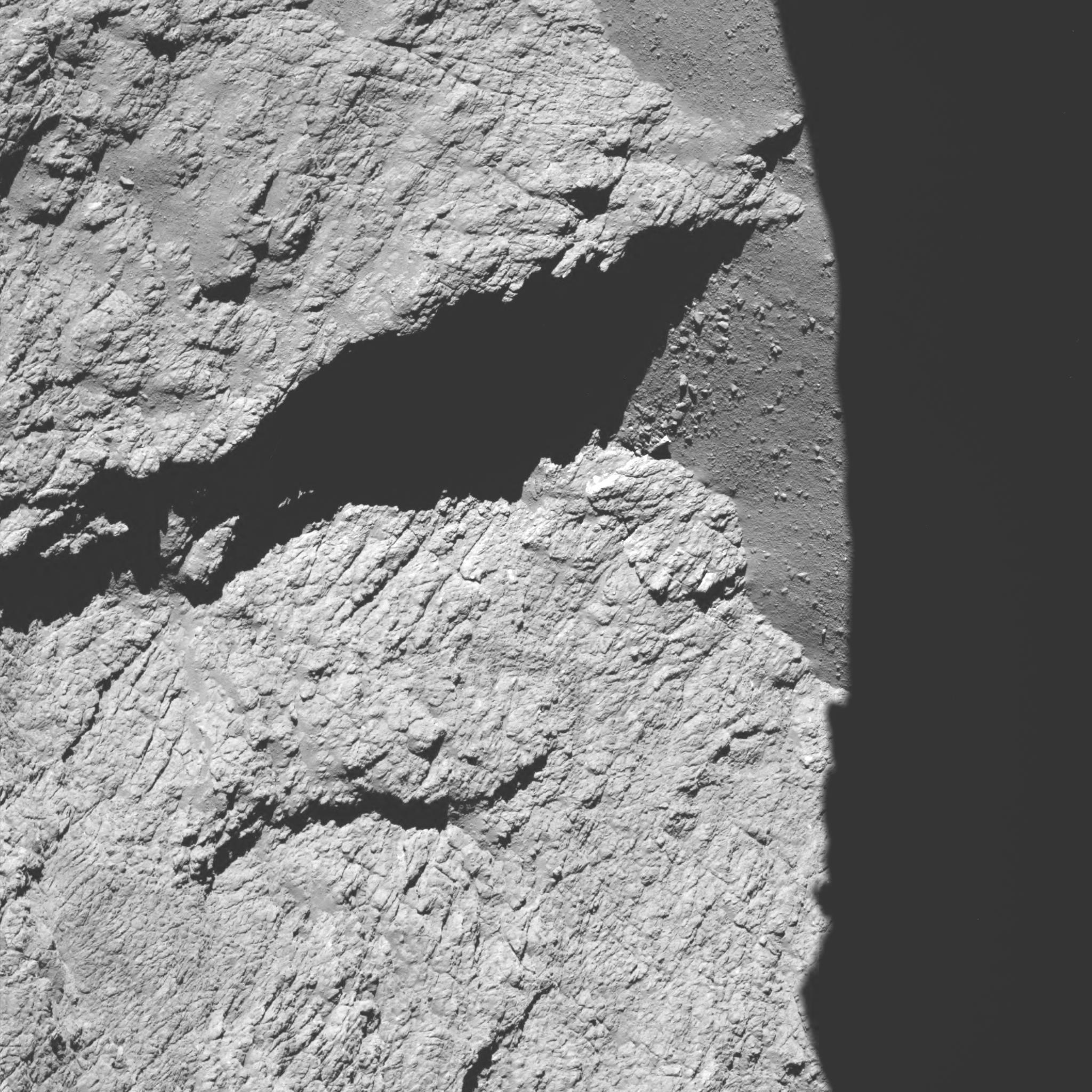 Image de la sonde Rosetta à 8,9km de la comète Tchoury
