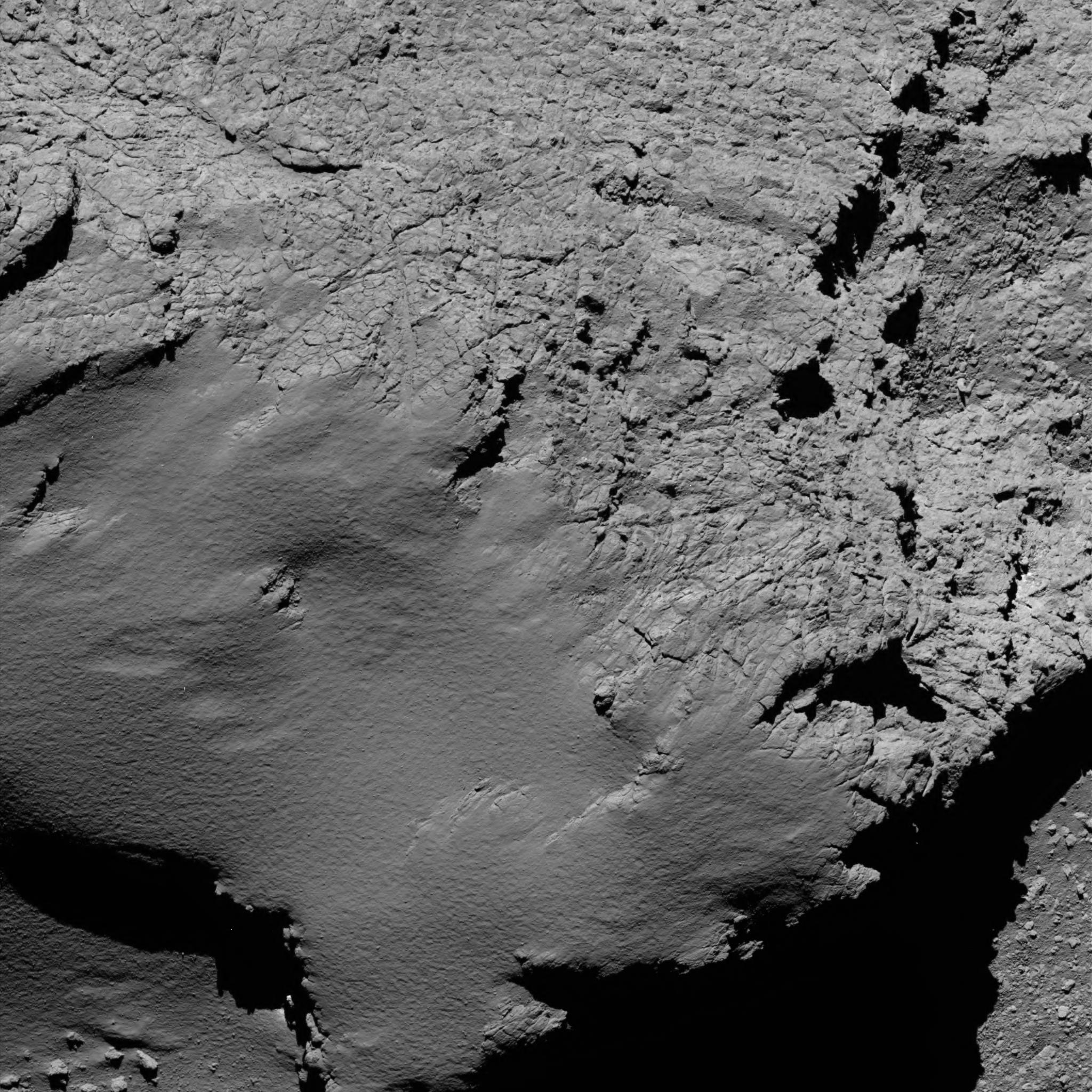 Image de la sonde Rosetta à 5,7km de la comète Tchoury