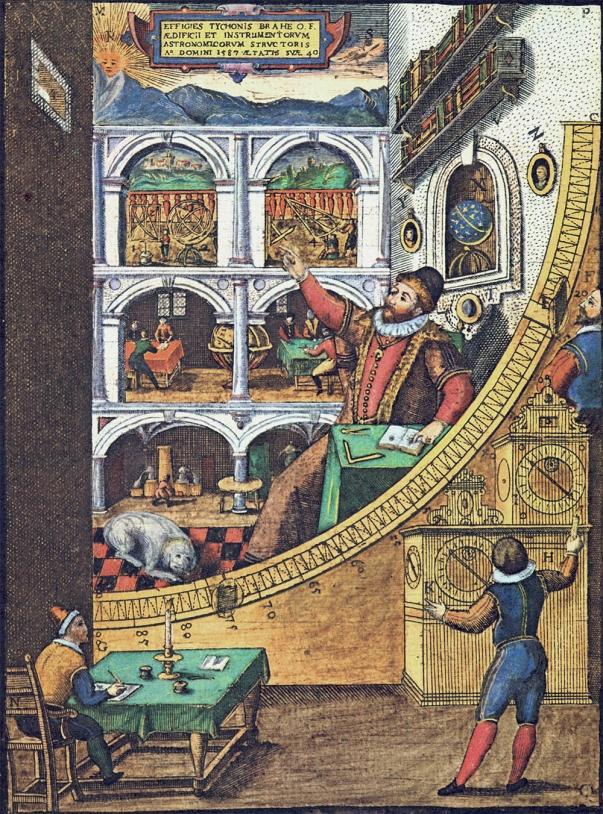 Tycho Brahe, astronome danois du XVIe siècle, observait les astres sans instrument optique