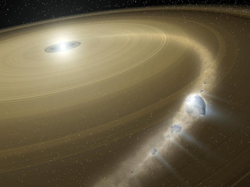 Disque d'accrétion autour d'une proto-étoile.