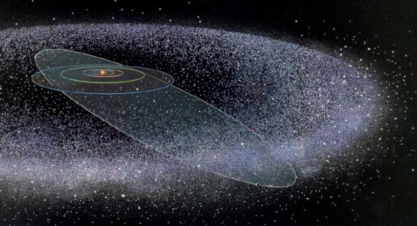 Formation du nuage d'Oort (illustration).