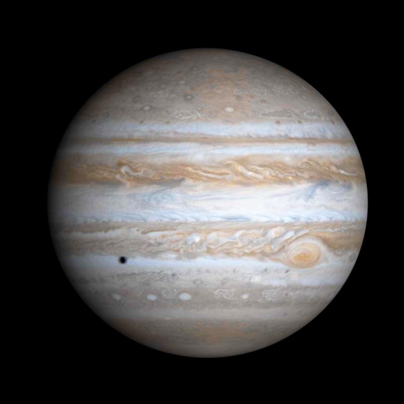 Jupiter par la sonde Cassini.