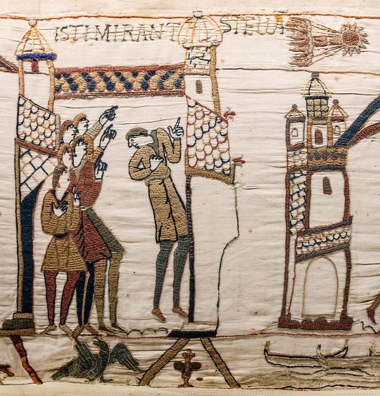 La comète de Halley sur la tapisserie de Bayeux.