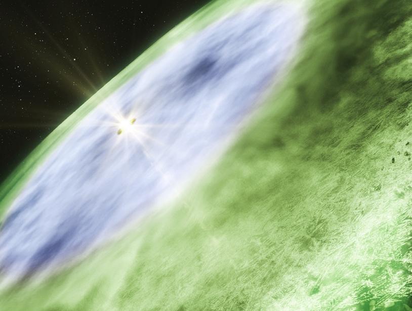 La frontière de glace se situe entre 2,5 et 3 ua du Soleil (illustration).