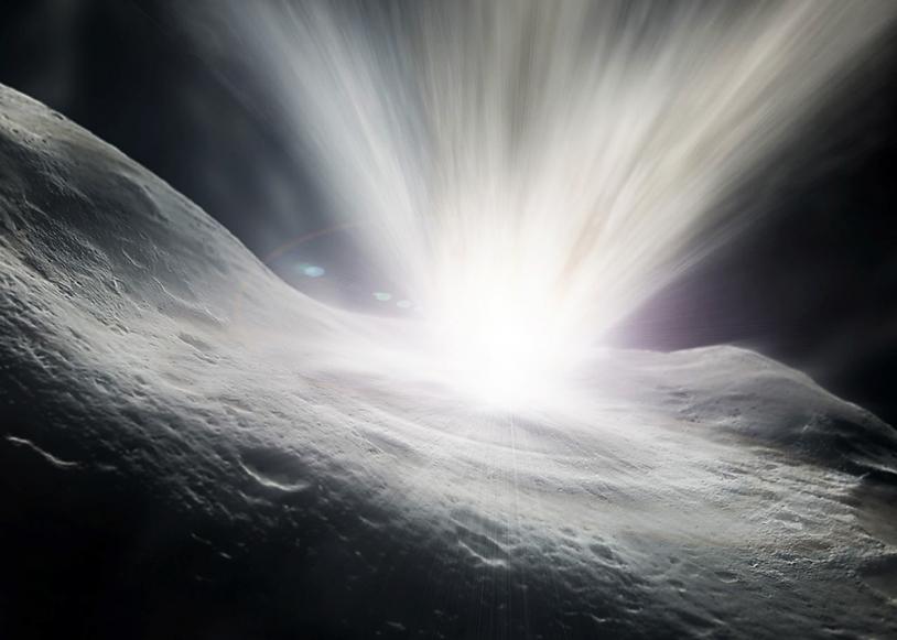 L'érosion des comètes (illustration).