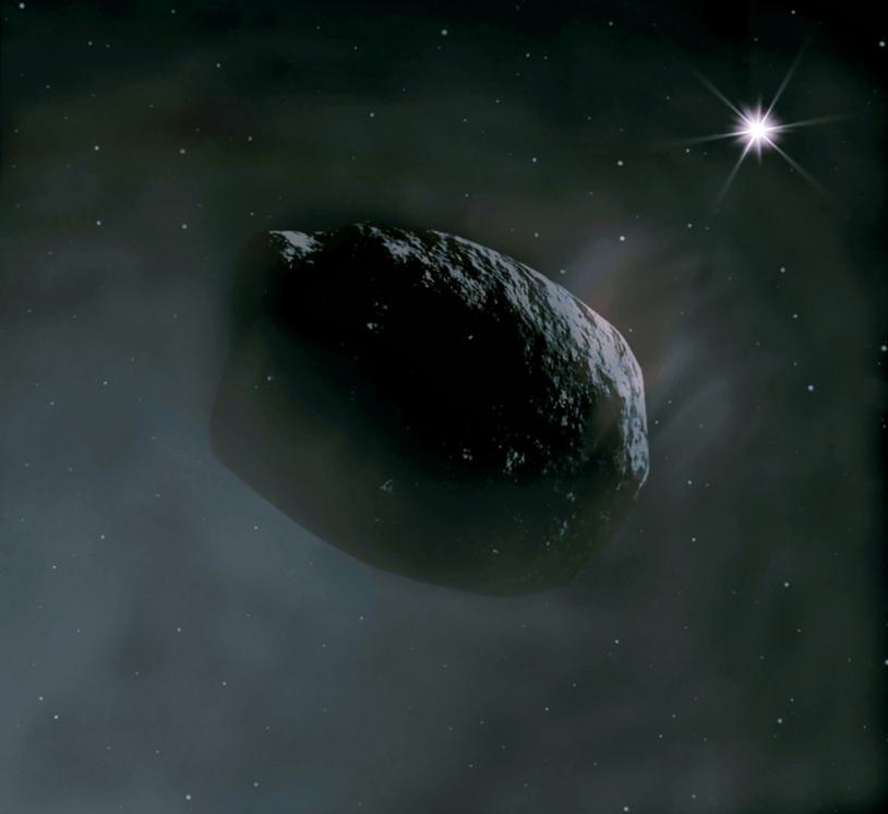 Une croûte très sombre enveloppe les comètes (illustration).