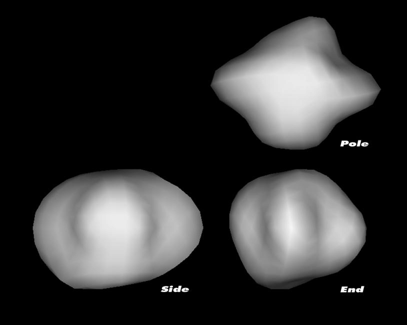 Modèle 3D du noyau de 67P Churyumov-Gerasimenko réalisé à partir des observations de la comète par le télescope spatial Hubble en mars 2003.