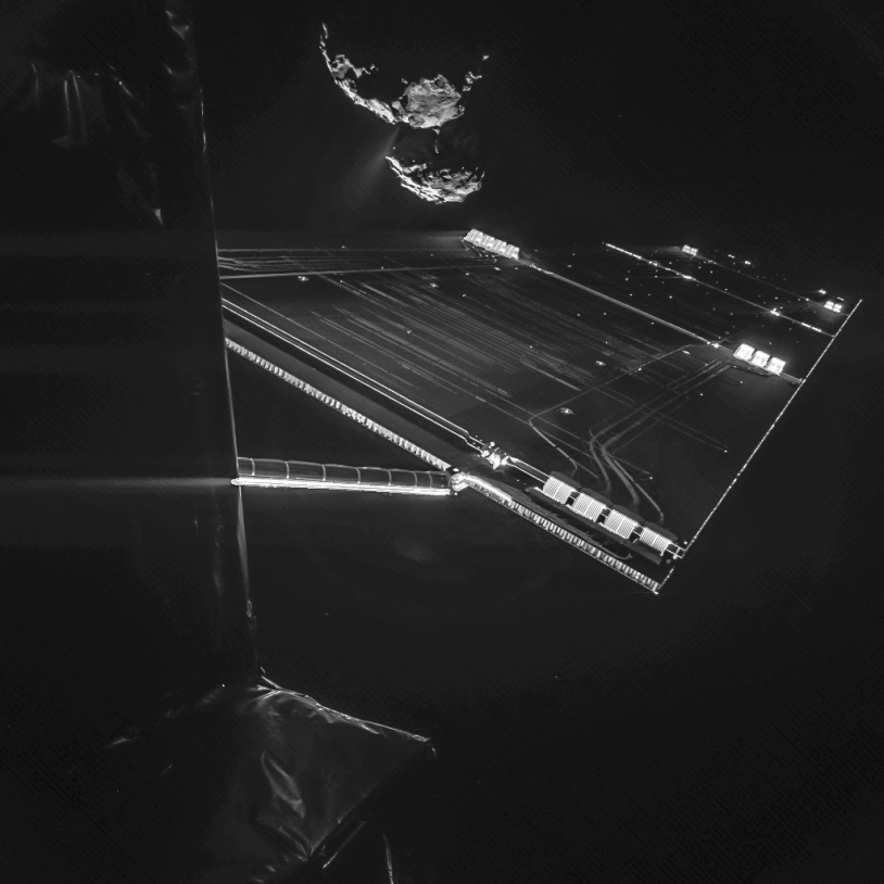 Autoportrait de Rosetta à 16 km de sa comète